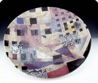 1 Douglas Kenney plate M5 23.5 inch Diameter 1992 earthenware Gift of the Washington Post   Permanent collection Smithsonian American Art Museum