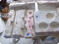 12 Relief Tiles Ready for Glazing