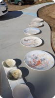 8 Big Ceramic Bisque Plates