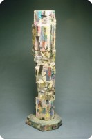 1993 Totem T3  earthenware  concrete  74 inch  188 cm height