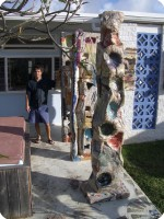 10 Artist Sculptures in Front of Studio